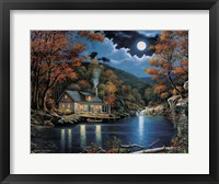 Cabin By The Lake Fine Art Print