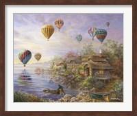 Air Balloons Over Cottageville Fine Art Print