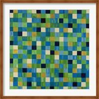 Green Checks Fine Art Print