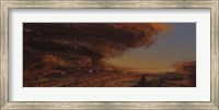 Deep within the raging storm that is the Great Red Spot of Jupiter Fine Art Print