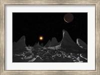 Ice spires on Jupiter's large Moon, Callisto Fine Art Print