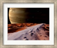 Jupiter seen from the Surface of its Moon, Amalthea Fine Art Print