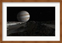 Ice ridges on Jupiter's moon, Europa Fine Art Print