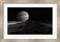 Ice ridges on Jupiter's moon, Europa Fine Art Print
