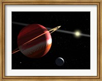 A Jupiter-mass planet orbiting the nearby star Epsilon Eridani Fine Art Print