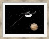 Voyager Spacecraft near Jupiter Fine Art Print