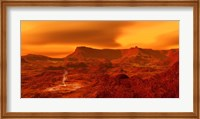 Panorama of a landscape on Venus at 700 degress Fahrenheit Fine Art Print