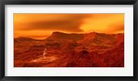 Panorama of a landscape on Venus at 700 degress Fahrenheit Fine Art Print
