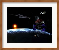 Mission to an Earth-approaching Asteroid Fine Art Print