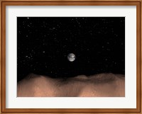 A view of Earth as seen from the surface of the Asteroid Toutatis Fine Art Print