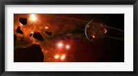 Young Planet with Asteroids Fine Art Print