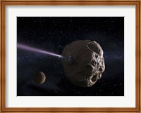 Deflecting Path of an Earth-Crossing Asteroid Fine Art Print