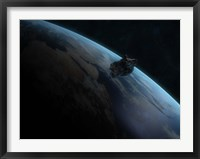 Asteroid in Front of the Earth II Fine Art Print