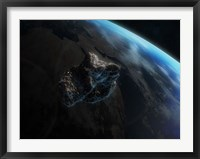 Asteroid in Front of the Earth III Fine Art Print