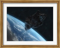 Asteroid in Front of the Earth IV Fine Art Print