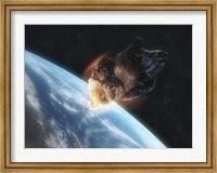 Asteroid in Front of the Earth V Fine Art Print