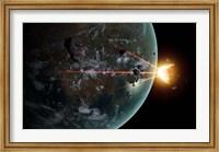 A Laser Anti-Asteroid Defense System Fine Art Print