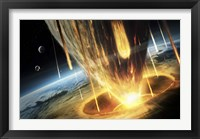 Giant Asteroid collides with the Earth Fine Art Print
