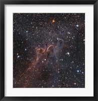 Cometary Globules CG 30/31/38 in the constellations Vela and Puppis Fine Art Print