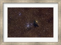 NGC 6520, an open cluster in the Constellation Sagittarius Fine Art Print