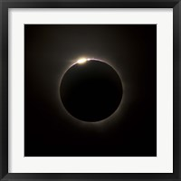 Solar Eclipse with prominences and diamond ring effect Fine Art Print