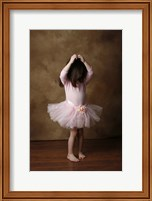 Little Girl In Ballet Outfit Fine Art Print