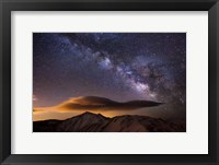 Milky Way Over The Rockies Fine Art Print