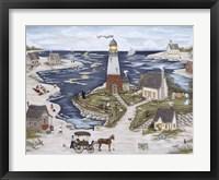 Picnic At Windy Bay Fine Art Print