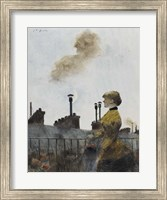 Young Woman On A Balcony In Profile Fine Art Print