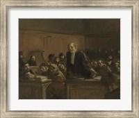 Court Scene - Speech For The Defense, 1907 Fine Art Print