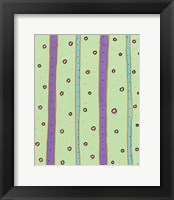 Bubbles and Stripes Mint Fine Art Print