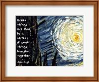 Great Things - Van Gogh Quote 1 Fine Art Print