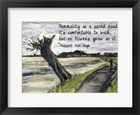 Normality - Van Gogh Quote 1 Fine Art Print