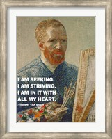 Seeking -Van Gogh Quote Fine Art Print