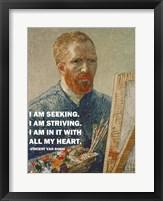Seeking -Van Gogh Quote Fine Art Print