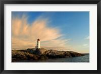 Peggy's Point Lighthouse at Sunset Fine Art Print