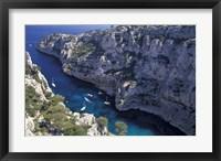 Limestone Cliffs,Provence, France Fine Art Print