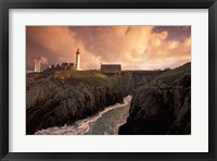 Pointe De St Mathieu Lighthouse at Dawn, Brittany, France Fine Art Print