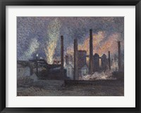 Factories Near Charleroi, 1897 Fine Art Print
