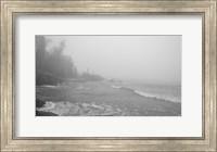 Lake Superior Black And White 29 Fine Art Print
