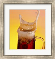Beer Mug And Splashing Fruit Fine Art Print