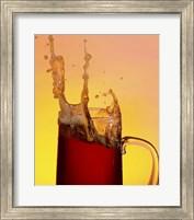 Beer Mug And Splashing Foam Fine Art Print