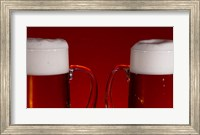 Beer Mugs Closeup Fine Art Print