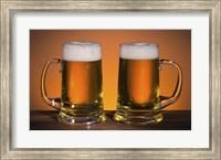 Beer Mug Duo On Bar Fine Art Print