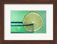 Margarita Glass And Lemon Closeup I Fine Art Print