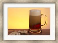 Beer Foaming And Peanuts Fine Art Print