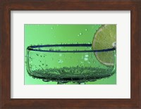 Margarita Glass And Lemon Closeup II Fine Art Print