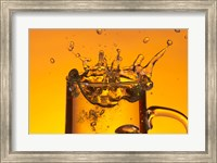 Glass Mug On Bar Splashing II Fine Art Print