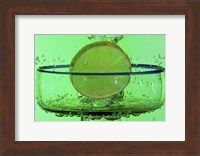 Margarita Glass And Lemon Splash Fine Art Print