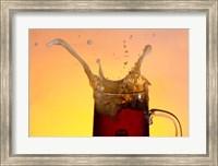 Beer Mug And Splashing Bubble Fine Art Print